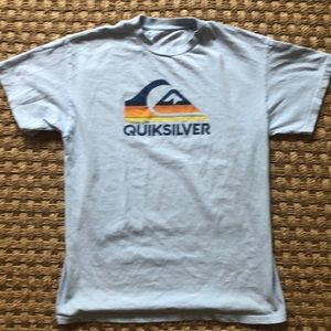 Quiksilver powder blue tee